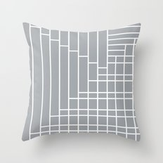 Fuzz Outline Grey Throw Pillow