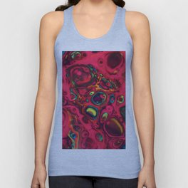 Colorful cells abstract painting Unisex Tank Top