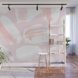 Brushstrokes Pattern Pink Wall Mural