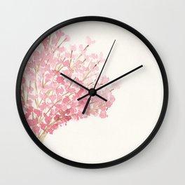 Cherry Tree Watercolor Wall Clock