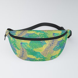 Leopard in the jungle Fanny Pack