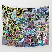 skateboard Wall Tapestries featuring How It's Made: Skateboard Edition by Frenemy