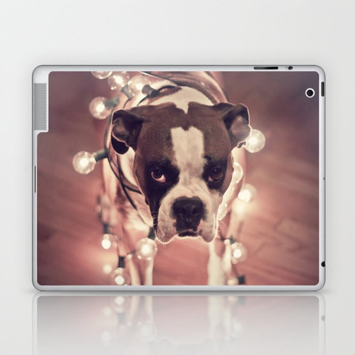 Will work for treats Laptop & iPad Skin