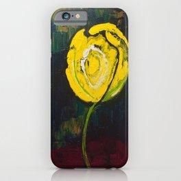 Golden Yellow Rose Acrylic iPhone Case