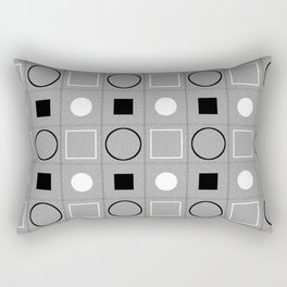 Rounds and Squares (White)2 Rectangular Pillow