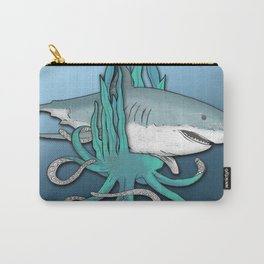 Octopus Bit The Great White Shark Carry-All Pouch