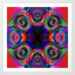 Tie Dye Fractal Art Print