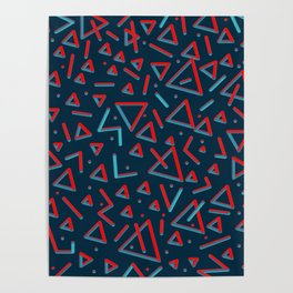 3D Pattern. Metal Feel Poster