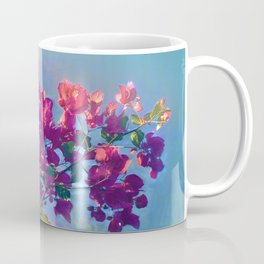 Red flower on blue sky Coffee Mug