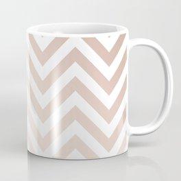 Chevron rose gold and white Coffee Mug