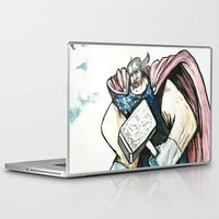 thor Laptop & iPad Skins featuring Thor by Crooked Octopus