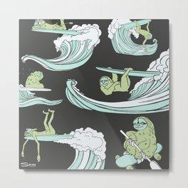 Surfin' Sloths  Metal Print