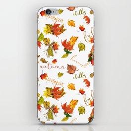 Autumn Leaves Hello Fall! iPhone Skin