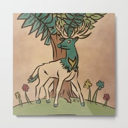 The Guardian Stag Metal Print