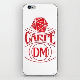 Tabletop Gaming Carpe DM Print Fantasy Dragons D20 Dice Tee iPhone Skin