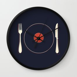 Vinyl Food Wall Clock