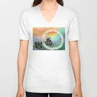 thanksgiving V-neck T-shirts featuring Thanksgiving by Wakoshi