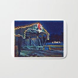 Mad River Coved Bridge, Vermont Bath Mat