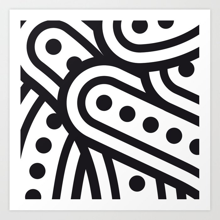 dots & curves Art Print