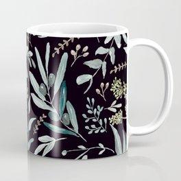 Black Eucalyptus Pattern Coffee Mug