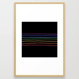 Abstract Retro Stripes #3 Framed Art Print
