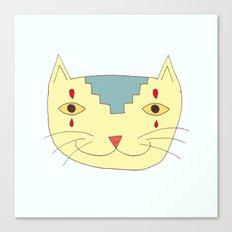 Aztec Cat Canvas Print