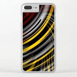 Hyper Plaid Clear iPhone Case