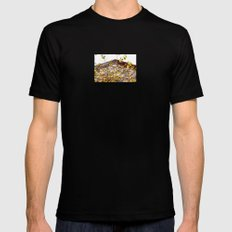 Somewhere in Rhode Island - Abandoned Mill 003 Mens Fitted Tee Black MEDIUM