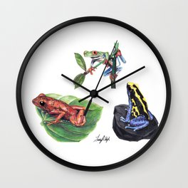 Jungle Frogs Wall Clock