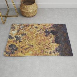 Rusty Metal Surface Texture Rug