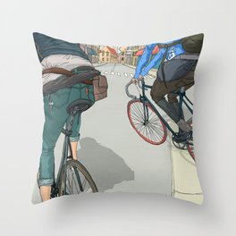 City traveller Throw Pillow