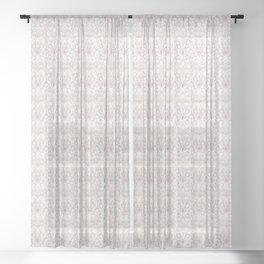 Art Deco Marble & Copper Sheer Curtain