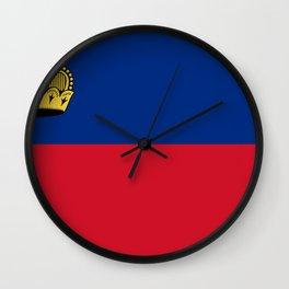 Liechtenstein Flag Wall Clock