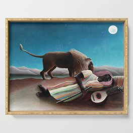 Henri Rousseau The Sleeping Gypsy Serving Tray