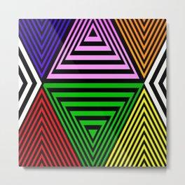 Infinite Pyramids Metal Print
