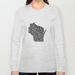 Typographic Wisconsin Long Sleeve T-shirt