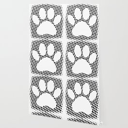 Dog Paw Print With Halftone Background Wallpaper
