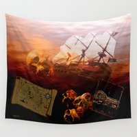 pirates Wall Tapestries featuring Pirates  by valzart