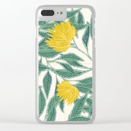 Flower and yellow. Clear iPhone Case