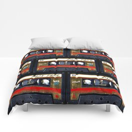 Retro cassette mix tape Comforters