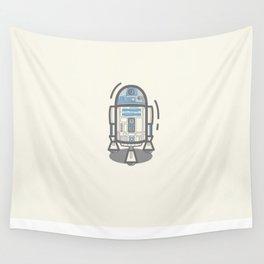 R2-D2 Vector Illustration Wall Tapestry