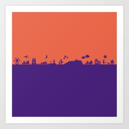 Find Your Angle_Travel_biColor_Coral&Violet Art Print