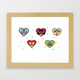 Space Froggos Love You! Framed Art Print