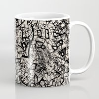 newspaper Mugs featuring - newspaper - by Magdalla Del Fresto
