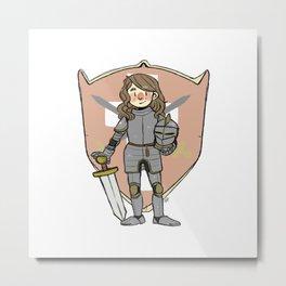 Knight Cosette Metal Print