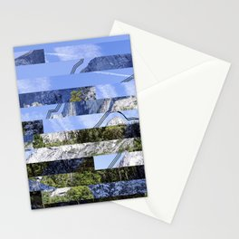 Yosemite Lines Corrupted Stationery Cards