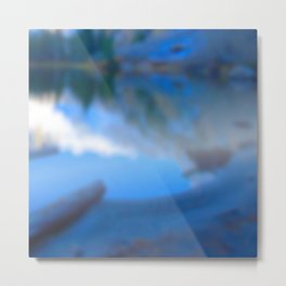 Reflections on my secret lake Metal Print