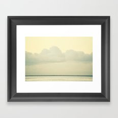White Wall Framed Art Print