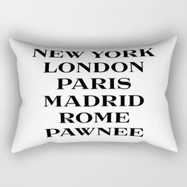 cities marfa fashion print Rectangular Pillow
