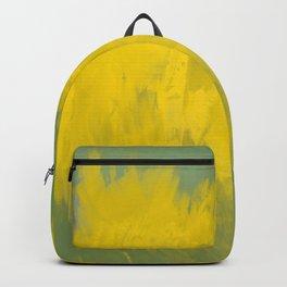 Jubilant 12 - Abstract Modern - Sunshine Yellow Gold Sage Green Backpack